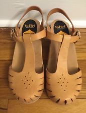 Swedish Hasbeens Beige Sandals Clogs size 40-new