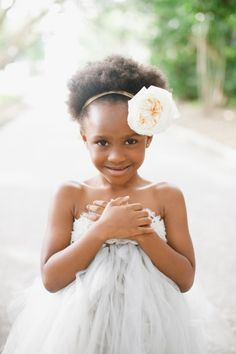 Strapless flower girl dress and a gorgeous flower headband: http://www.stylemepretty.com/2013/12/13/sarasota-fl-wedding-at-ca-dzan-mansion/ | Photography: Katie Lopez - http://katielopezphotography.com/