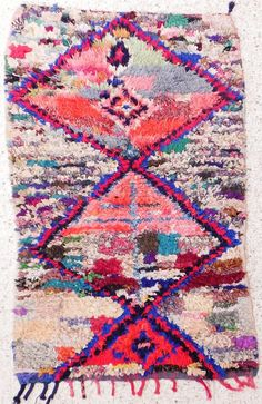 Amazing woven Boucherouite rug from Morocco!