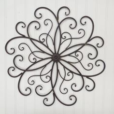 Large Wrought Iron Wall Decor-You Pick Color(s)/ Metal Wall Decor/ Rust/Wrought Iron/Flower/Scroll/ Bedroom Wall/ Garden Decor/Outdoor Decor