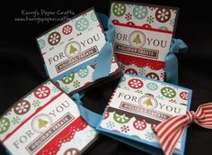 Last minute stocking stuffer: Create your own chocolate candy bar packaging.