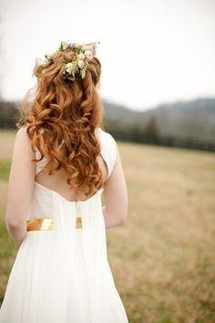 Idea for my wedding hair (minus the flowers)