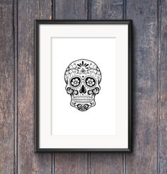 Buy 2 prints get 1 free #SugarSkull #Printable by SouthPacific on #Etsy $5.00