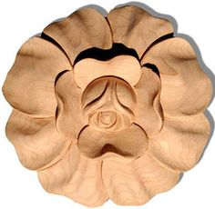 "california wood rosettes carved in maple, oak and cherry 3"" $14.40"