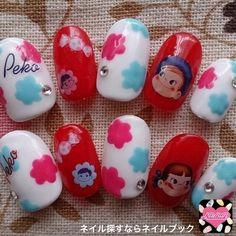 Short Nails Art, Design Art, Nail Designs, Nail Art, Kawaii, Korean Nails, Cartoon Network, Character, Decor
