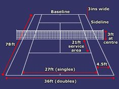 Find out about the tennis court #learnhowtoserveintennis
