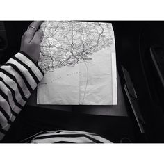 Daydreaming of interning in #Madrid crinkled maps and exploring #Spain by train. Photo by ISA alumna Land Le Coq #internship #internabroad #isaabroad #blackandwhite by isa_experience