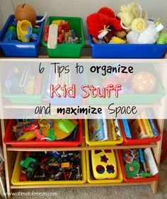 How to organize kid stuff and maximize space ~ A Time to Freeze #organize #toys #maximizespace