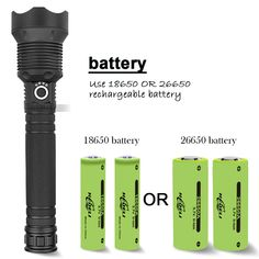 Product parameters: Name: XHP 50 flashlight Model of LED Beads: XHP 50 Body Material: Aluminum Alloy Battery: (not included) Zoom: Telescopic Super Bright Flashlight, Rechargeable Battery Charger, Cool Gadgets To Buy, Rainy Weather, Most Powerful, Cool Things To Buy, Stuff To Buy, Led Flashlight, Casablanca