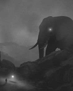 Dawid Planeta digital art depression illustrations