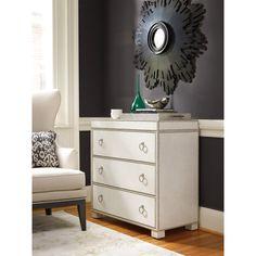 Hooker Furniture 5230-85001 Three Drawer Chest in White/Cream/Beige
