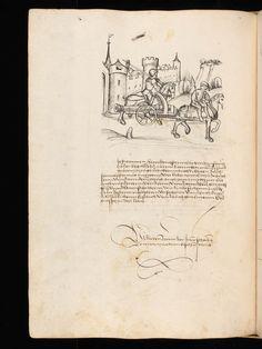 """Aarau, Aargauer Kantonsbibliothek, ZF 18, f. 196v – Werner Schodoler, Eidgenössische Chronik, Vol. 3 The Eidgenössischen Chronik/Luzerner Chronik. A manuscript by Wernher Schodoler. Made in 1513. About the Swiss wars with """"Habsburg, die Burgunderkriege, dem Schwabenkrieg und zuletzt den italienischen Feldzügen"""" http://de.wikipedia.org/wiki/Eidgen%C3%B6ssische_Chronik_%28Schodoler%29"""