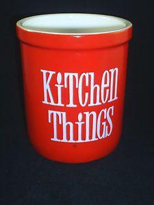T G Green Red Kitchen Things Utensils Jar | eBay