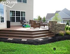 Exceptional Home Deck Idea With Brick/stone Wall.