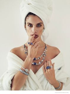 Sara Sampaio Stuns in Jewelry Looks for Alvaro Beamud Cortes in Vogue Spain December 2014