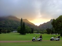 Pali Golf Course at sunset…PRICELESS!