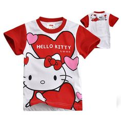 Hello Kitty Red Cartoon Tee