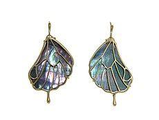Pampian Wing Earrings - Black Mother of Pearl