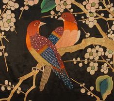SPECTACULAR CHINESE SILK EMBROIDERED PANEL, 19th C.