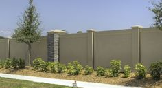 Because the PermaSand fences are made from solid concrete, there is no risk of moisture seeping into the wall, separating the stucco from the structure. Description from permacastwalls.com. I searched for this on bing.com/images