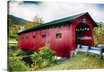Low Angle View of a Covered Bridge, West Arlington, Vermont