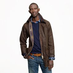 Sharp AND practical - especially for Seattle. (Barbour Beaufort jacket, for J.Crew)