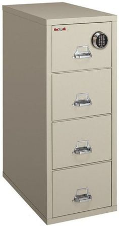 4 Drawer Letter Fireproof File with Electronic Lock by FireKing by FireKing. $2505.00. File Cabinets Price includes tailgate delivery to your loading dock. For additional delivery services, please call for your guaranteed price. Additional services include liftgate service, inside delivery and White Glove delivery. Fireking Vertical Files - American-built insulated file with a 1-hour fire and impact rating from Underwriters Laboratories. Lifetime warranty on al...