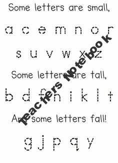 Some letters...small, tall, fall