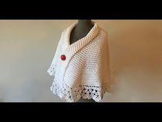 Crochet Baymax - Crochet motif for tunic blouse How to join motifs Part 2 Poncho Au Crochet, Stitch Crochet, Crochet Ripple, Crochet Afgans, Crochet Collar, Tunisian Crochet, Crochet Cardigan, Crochet Braids, Crochet Motif