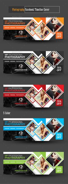 Photography Facebook Timeline Cover Template PSD