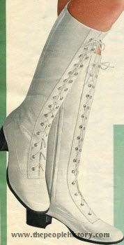 Crinkle Vinyl Granny Boot 1971. I had this pair. I went snowmobiling for the first time in them almost froze.They looked good though lol.