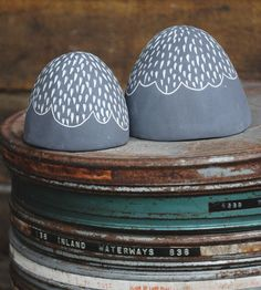 Black & White Ceramic Mountain Sculpture Set | Home Decor | Half Light Honey Studio | Scoutmob Shoppe | Product Detail