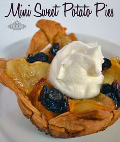 Mini Sweet Pototato Pies recipe