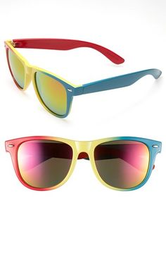 Old-school mirrored neon shades!
