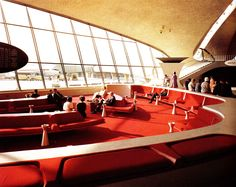 theimportanceofbeingmodernist: Come Fly With Me: TWA Terninal by Eero Saarinen- Saarinen designed the Trans World Airlines terminal at New York's JFK airport in 1956. The huge vaulted structure was built on site by pouring concrete into elaboarte wooden moulds forming the wing like structure. The terminal took six years to complete. The groundbreaking terminal made a name for TWA setting them apart from other airlines. Unfortunately the terminal became obsolete as more people started to…