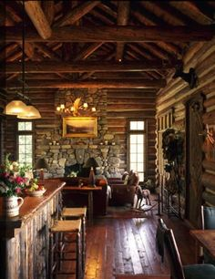 There was a beautiful two story log and stone home in Berea, KY, the town I grew up in, that I coveted so badly as a teenager. It was just ...