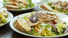 Watch How to Make a Healthy Apple & Grilled Chicken Salad with Cheddar Cheese Toasts in the EatingWell Video