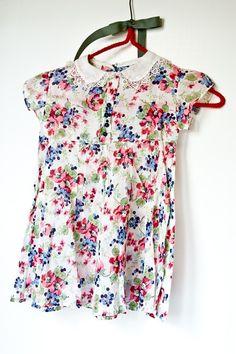 Vintage Cotton 1930s Babydoll Girls Dress
