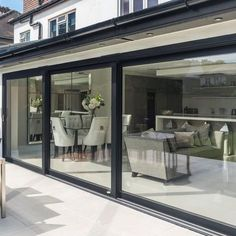 Modern home design House Extension Plans, House Extension Design, Extension Ideas, Rear Extension, Garden Room Extensions, House Extensions, Open Plan Kitchen Living Room, My Living Room, Ultra Modern Homes