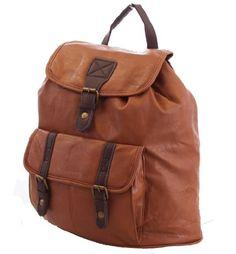 22€ sac à main porté au dos pour femme Marron Sable More4bagz