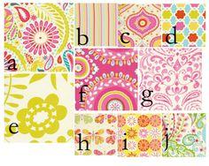Custom 3 piece Baby Bedding Set--Crib skirt, bumper pads, and sheet (Kumari Garden pink). $299.00, via Etsy.