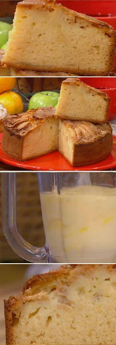 Torta de manzana humeda