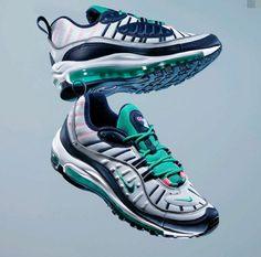 pretty nice 95953 6520b Nike Supreme X Nikelab Air Max 98 Nike Air Max 98 White Gold Black 640744-