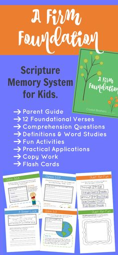 A great new resource to help you in teaching the Word to your children. Help them memorize 12 key verses, and learn how to apply those verses to their lives. Get the first lesson FREE.