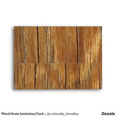 Wood Grain Invitation/Card Envelope