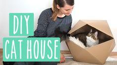 Geometric Cat House - DIY Katzenhaus aus Karton! #Upcycling                                                                                                                                                     Mehr