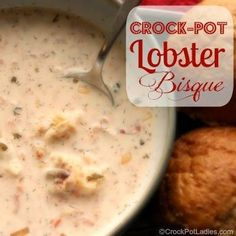 Lower Excess Fat Rooster Recipes That Basically Prime Crock-Pot Lobster Bisque Via - A Warm And Rich Creamy Soup Full Of Flavor And Tender Chunks Of Lobster Meat. Simple To Prepare But This Recipe Will Surely Impress Anyone You Serve It To Crock Pot Recipes, Crock Pot Cooking, Slow Cooker Recipes, Cooking Recipes, Crockpot Meals, Pork Recipes, Think Food, Love Food, Seafood Dishes