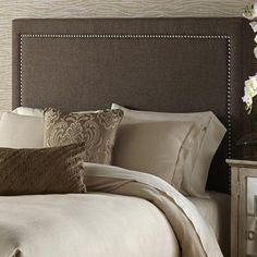 Dark Grey Queen Size Upholstered Headboard