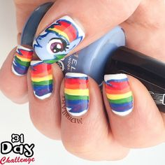 mdnailart rainbow dash #nail #nails #nailart