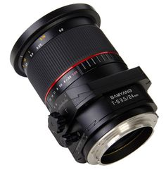 Samyang T-S 24mm 1:3.5 ED AS UMC    Samyang T-S 24mm 1:3.5 ED AS UMC is a wide-angle, full-frame lens fitted with the perspective control and tilt-shift functions